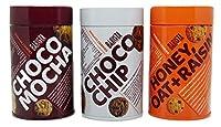 Barista India Box, Cookie Tin Box 100gm Pack of 3 (Choco Mocha, Honey Oat Raisin, Choco Chip)