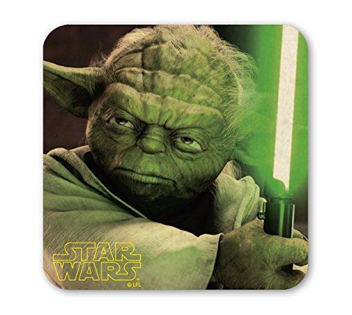 Star Wars Untersetzer - Krieg der Sterne - Yoda - farbig - Lizenziertes Originaldesign - LOGOSHIRT