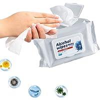 lingettes humides antibact/ériennes pour Nettoyer Les Mains Soins de sant/é des Mains 80 lingettes//Paquet Lingettes humides lingettes sans Alcool Lingette Humide Bleu