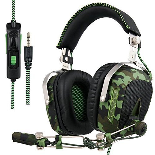 Sades SA926T PS4 XBOX One Gaming Kopfhörer Headset mit Mikrofon Lautstärkenregelung 3.5mm On Ear Stereo Surround Sound Ohrhörer für PC/ MAC/Computer/Laptop/Tablet/iPhones/iPods/iPad/Smartphone Nachricht Mp3