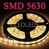 BOBINA STRISCIA 300 LED 5630 5 METRI 5M 12V LUCE CALDA BIANCO CASA STRIP IP65