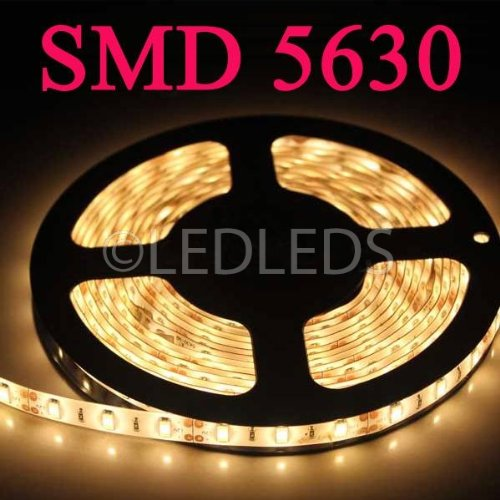 BOBINA STRISCIA 300 LED 5630 5 METRI 5M 12V LUCE BIANCO CALDO CASA STRIP ip65