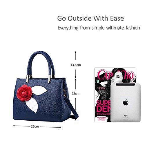 NICOLE&DORIS Donne Moda semplice borsa di Crossbody spalla borsa piccolo sacchetto morbido PU carino Totes Grigio Chiaro Blu
