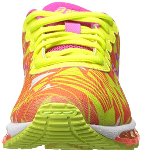 Asics Gel-Quantum 360 GS Synthétique Chaussure de Course Flash Coral-Pink Glow-Flash Yellow