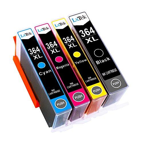 LxTek 364XL Kompatibel für HP 364 364 XL Druckerpatronen für HP Deskjet 3070A 3520 Officejet 4620 4622 Photosmart 5510 5515 5520 5524 6510 6520 7510 7520 B010a B109a (1Schwarz, 1Cyan, 1Magenta, 1Gelb)