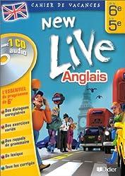 Cahier de vacances New Live : Anglais de la 6e à la 5e (1 livre + 1 CD audio)