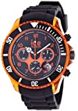 ICE-Watch - Montre Mixte - Quartz Analogique - Ice-Chrono Electrik - Black - Orange - Big Big - Cadran Noir - Bracelet Silicone Noir - CH.KOE.BB.S.12