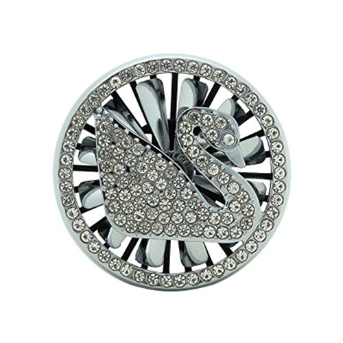 LJSHU Auto Aroma Diffusor, Kreative Schwan Klimaanlage Luftauslass Aromatherapie Lufterfrischer Diamant Um Geruch Diffusor Wiederverwendbare Innendekoration zu beseitigen,Silber -