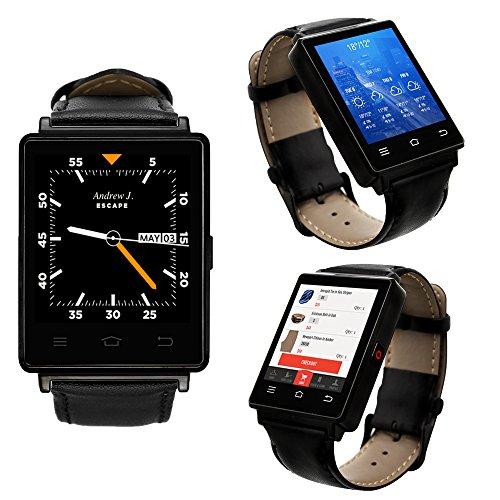 Indigi® Sleek Android 5.13G Entsperrtes AT & T Tmobile geeignet Smartwatch Phone + WiFi + GPS + Herzfrequenz (Handy Für T-mobile Freigeschaltet)