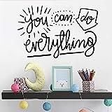 yiyiyaya Creative Tout Amovible Art Vinyle Stickers Muraux pour Chambres d'enfants Bricolage Décoration Murale Custom Sticker Décalque Autocollants Pourpre XL 57 cm X 86 cm