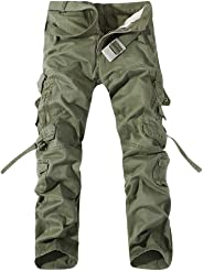 Men's Outdoor Cotton Casual Military Army Camo Combat Work Pants Tactical Cargo Trousers