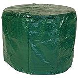 DEGAMO Abdeckhaube für Tische und Garnituren bis 125cm, PE dunkelgrün