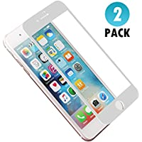 [2 unidades] Protector de Pantalla iPhone 6 /iPhone 6s , H quadratic 3D Pantalla Completa Cristal Templado Pantalla protectora Anti Blu Ray,cubre la pantalla completa perfectamente para iPhone 6/6s 4.7 '' Blanco