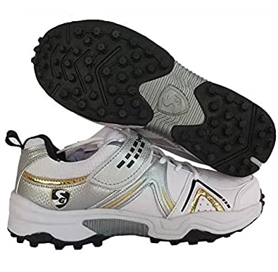 SG Century 3.0 Men's White, Black and Gold Cricket Shoes (6)