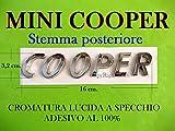 Mini Cooper Argento Cromato Silver Edition S SD One JCW Clubman Stemma Badge Emblema Scritta Logo