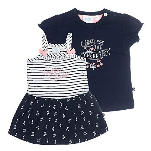 Mädchen T-shirt Kleid (Feetje Baby-Mädchen Kleid und T-Shirt Cherry Sweet, 86)