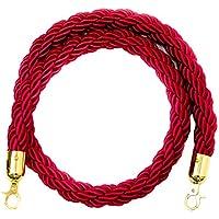 B Blesiya 5 pi/7 pi/10 pi Corde Barrière de Diviseur Files d'Attente avec Clip Attache - rouge, 2m