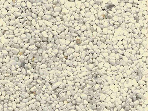 Steinteppich Marmorkies für 2qm l (25KG Marmorkies + 1,5KG Bindemittel, Weiß - Bianco Carrara)