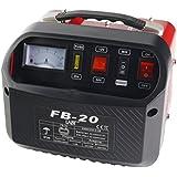 LABT Autobatterie-Ladegerät – Gelbatterie 12 V/24 V Starterbatterie Batterie Ladegerät für Auto und Motorrad | KFZ Batterieladegerät mit Stahlblechgehäuse, Tragegriff, Polklemmen, Ladekabel