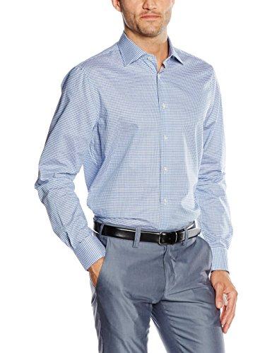 Tommy Hilfiger Tailored Jhn SHTCHK16310, Camisa Formal para Hombre, Azul (429), Collar Size: 41 cm