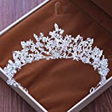 GTVERNH-La Couronne De Princesse D'Ornements De Mariage La Robe De Mariée De Perles De Cristal Accessoires,Une Couronne