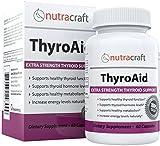 Suplemento de apoyo para las tiroides - GARANTÍA DE DEVOLUCIÓN Y ENVÍO GRATUITO - Fórmula herbal natural que mejora la función de las tiroides con L-tyrosina, Kelp (yodo), Ashwandanga (withania), Selenio, B-12 y Vitamina D para apoyar un metabolismo sano, reducir la fatiga, promover la pérdida de peso e incrementar los niveles de energía - 60 cápsulas