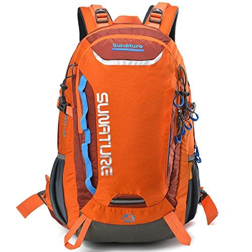 Ambientazione Esterna Nylon Spalla Borsa Traspirante Impermeabile Campeggio Zaino,Blue-OneSize Orange