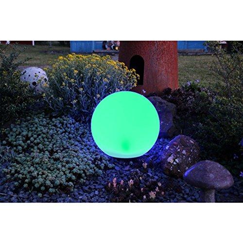 insatech Solar LED Kugel BOWL 30cm Solarkugel Farbwechsel Gartenkugel mit Fernbedienung