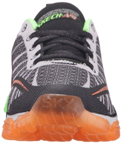Skechers Boys Air Turbo Shock, Baskets Basses Garçon Noir (Bklm Noir/Lime)