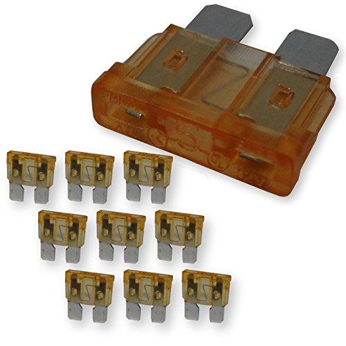 12 Stück SO-TOOLS® Standard Flachsicherungen 5A orange Autosicherungen Schmelzsicherungen Stecksicherungen