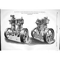 1882 GOVERNI SPAGNOLI D'ORGANIZZAZIONE ALLEN LAMBETH DEI MOTORI DELLA LUCE ELETTRICA - Allen Motore
