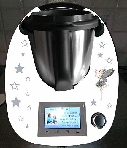 Aufkleber passend für Thermomix TM 5 Sterne Fee - Fünf-sterne-küchenmaschine