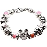 'Disney ratón de cumpleaños estilo Pandora pulsera con caja de regalo para niñas joyas