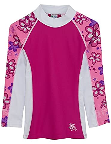 SHORELINE - Haut anti-UV manches longues, Blossom Pink, 11-12 ans