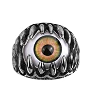 Halloween Men Punk Biker Eyeball Claws Finger Ring Statement Party Jewelry Gift