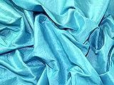 Crushed Strukturierte Taft Kleid Stoff, Meterware, Türkis