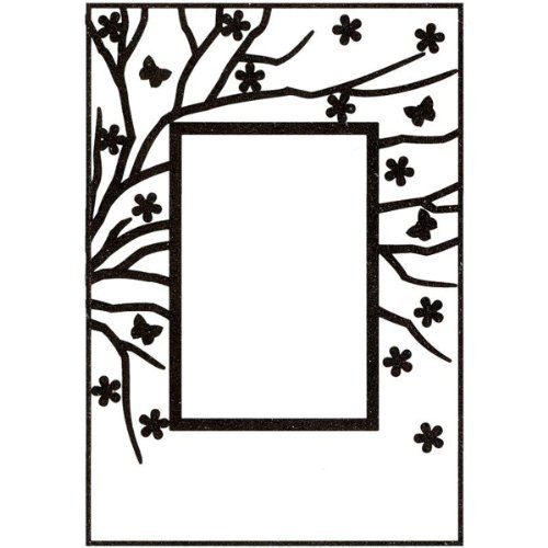 Ecstasy Crafts Nellie's Choice Spring in The Air Embossing Folder, 4-Inch by 6-Inch, Rectangle Frame with Rectangle Opening by Ecstasy Crafts -