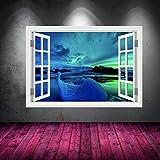 couleur complète Aurores boréales Fenêtre Transfert de Sticker Mural Art impression graphique MUR Caractéristique Maison Design Chambre à coucher séjour couloir wsdw7