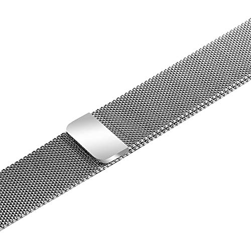 8Eninine Loop Watches Strap Classic 22Mm Stainless Steel Watch Band Quick Release Pins Silver