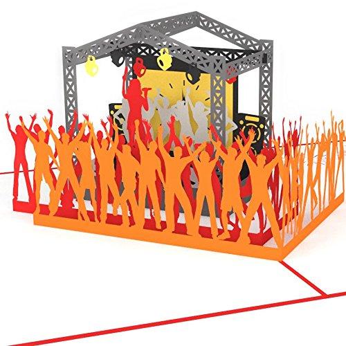 3D Karte Rock Pop Konzertgutschein, Grußkarte Musik, Geburtstagskarte z.B. als Gutschein für Konzert oder Festival