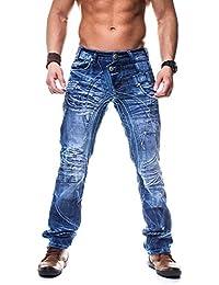 Kosmo Lupo K&M 080 Designer Jeans Homme Cargo Black Bleu Style Clubwear Pantalon W29-W38 / L32-L34