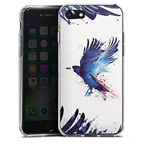 Apple iPhone X Silikon Hülle Case Schutzhülle Vogel Kunst Krähe Silikon Case transparent