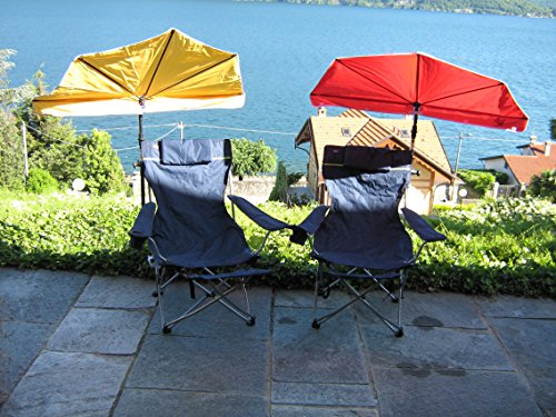 Compartiments – Orange + Support de parasol pour fixation jusqu'à Ø 35 mm