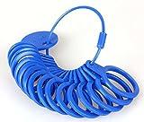 Ringmaß aus Kunststoff, Messgerät für den Durchmesser von Ringen Blau