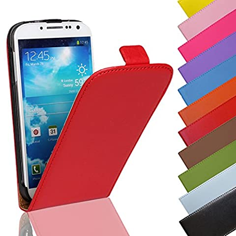 EximMobile - Flip Case Handytasche für HTC One (M9) in Rot | PU-Ledertasche HTC One (M9) Handyhülle | Schutzhülle aus PU-Leder | Cover Tasche | Etui Hülle in
