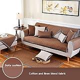 DULPLAY Anti-Rutsch-Sofa abdeckungen,Vier Jahreszeiten,Einfaches Sofa slipcover,Sofaüberwurf,Sofa dämpfung,Nordische,Moderne-F 90x240cm(35x94inch)