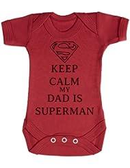 TRS - Calm Dad Is Superman Camisillas Bebé / Ropa interior 100% Algodón