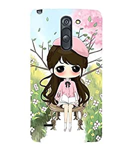 Vizagbeats Girl Reading Back Case Cover for LG G3 Stylus::LG G3 Stylus D690N::LG G3 Stylus D690