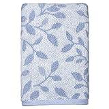 "Peri Home Vines Hand Towel, 100Percent Cotton, Blue, 15""x 26"", Bordered"
