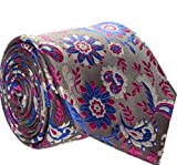 Duchamp London - Cravatta - Uomo Silver, Fuchsia,white,royal Blue Taglia unica